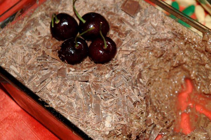 mousse francesa de chocolate, inspirada no rainhas do lar