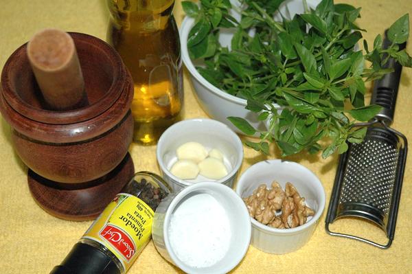 receita de pesto de manjericão