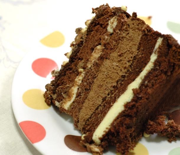 bolo trufado com musse de chocolate