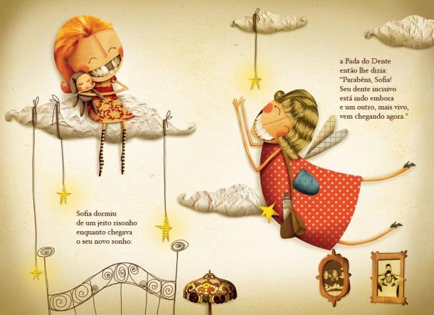 Sofia e o dente de leite, ilustrado por Bruna Assis Brasil