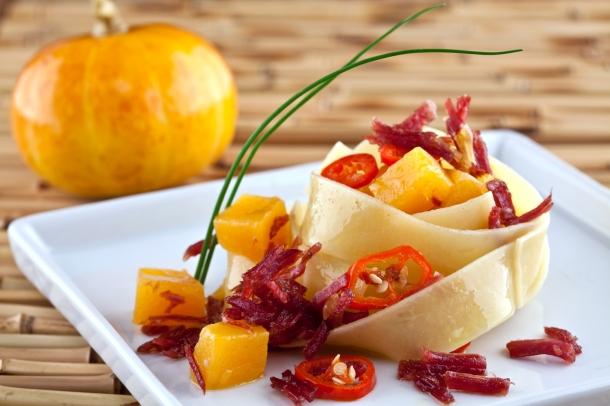 Receita da Selmi - Pappardelle com moranga, carne-seca e pimenta dedo-de-moça - foto divulgação
