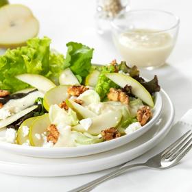 salada de peras enozes
