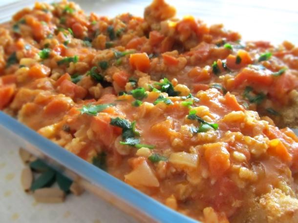 Filé de pescada com molho pedaçudo de camarão
