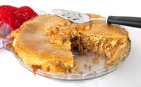 torta de frango e requeijão com massapodre