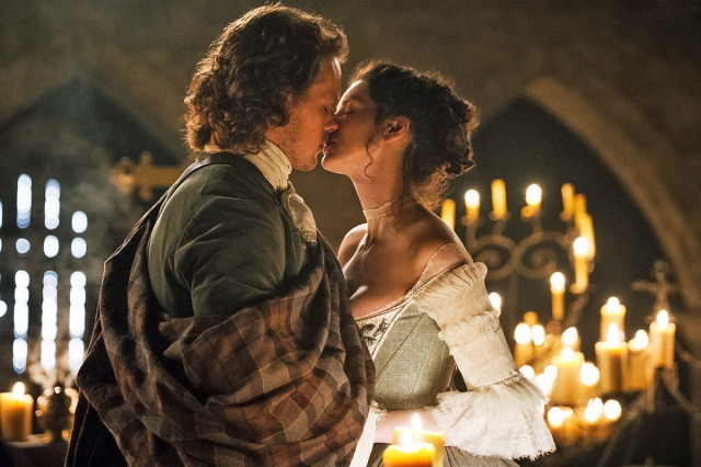 Claire e Jamie em Outlander